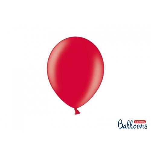 Czerwone, metaliczne balony (100 sztuk)