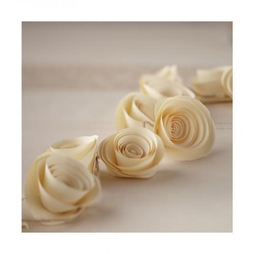 Girlanda - kremowe róże