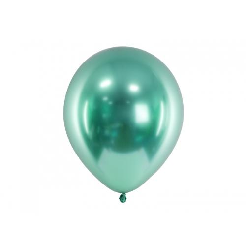 Butelkowa zieleń, balony glossy (100 sztuk)