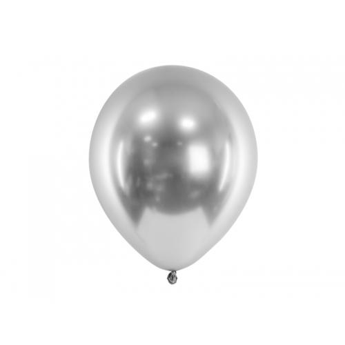 Srebrne, balony glossy (100 sztuk)
