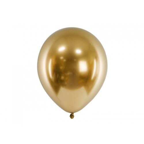 Złote, balony glossy (100 sztuk)