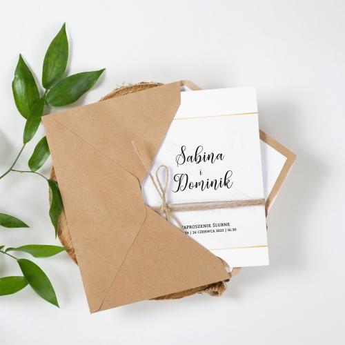 Zaproszenie ślubne - BohoMaz Białe