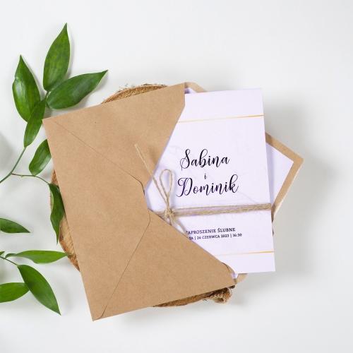 Zaproszenie ślubne - BohoMaz Fioletowe