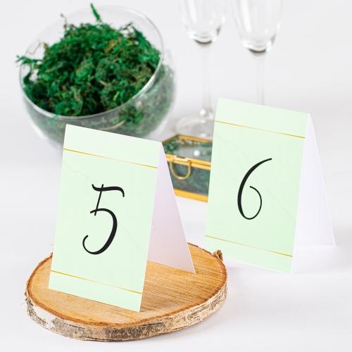 Numer stolika - BohoMaz zielony