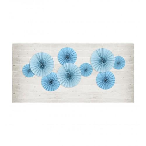 Niebieskie rozety dekoracyjne (3 sztuki)