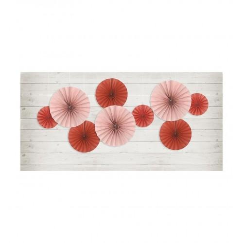 Czerwone rozety dekoracyjne (3 sztuki)