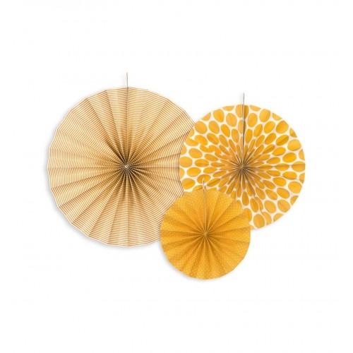 Pomarańczowe rozety dekoracyjne (3 sztuki)