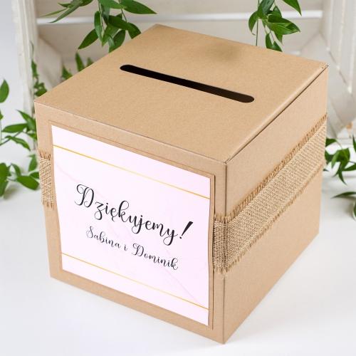 Pudełko na koperty - BohoMaz - różowe
