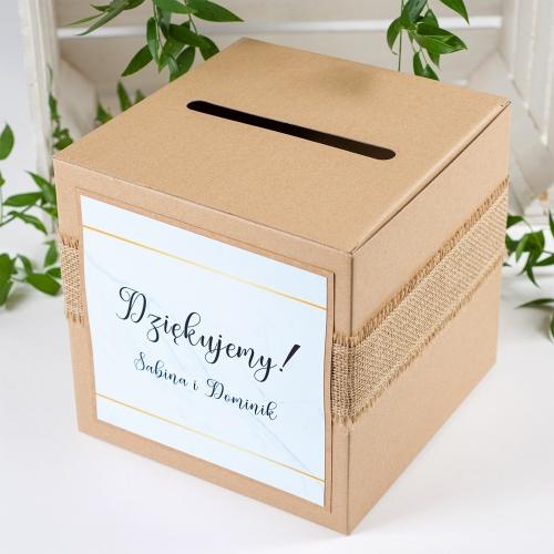 Pudełko na koperty - BohoMaz - błękitne