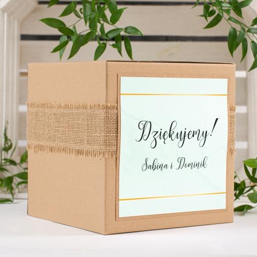 Pudełko na koperty - BohoMaz - zielone