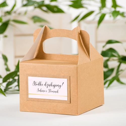 Małe pudełko na ciasto EKO - BohoMaz - różowe