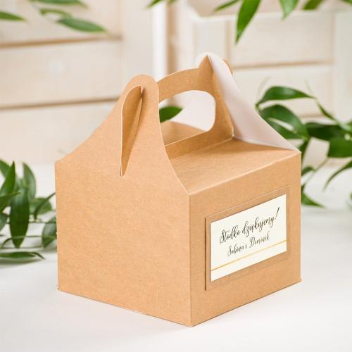 Małe pudełko na ciasto EKO - BohoMaz - kremowe