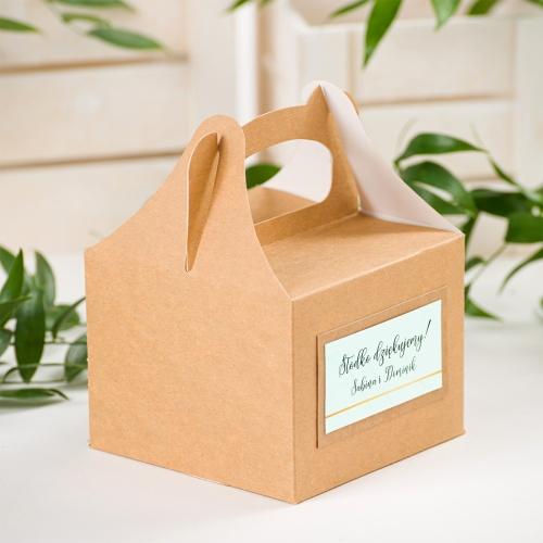 Małe pudełko na ciasto EKO - BohoMaz - zielone