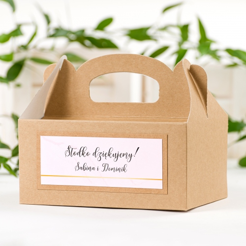 Duże pudełko na ciasto EKO - BohoMaz - różowe