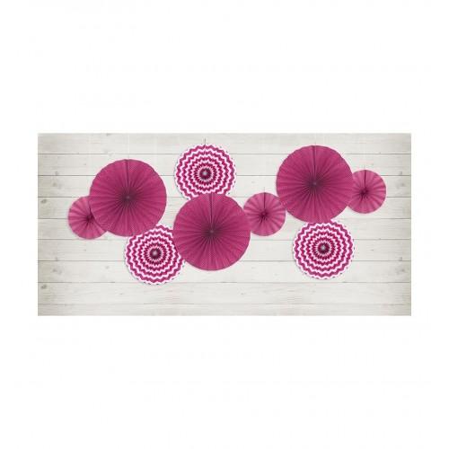 Fuksjowe rozety dekoracyjne (3 sztuki)