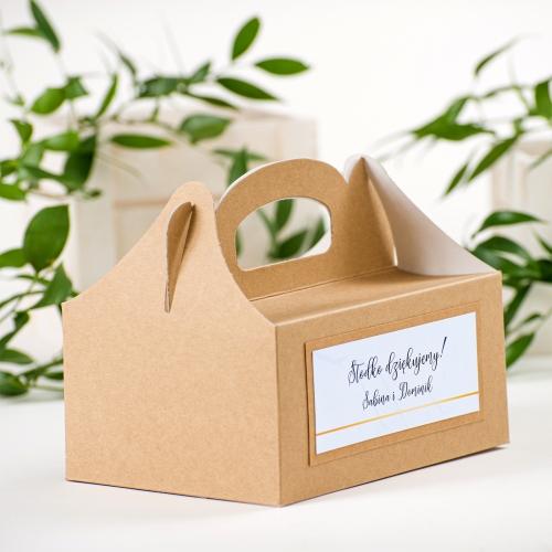 Duże pudełko na ciasto EKO - BohoMaz - błękitne