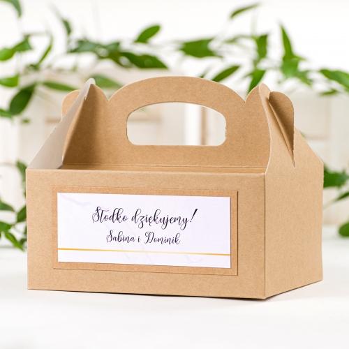 Duże pudełko na ciasto EKO - BohoMaz - fioletowe