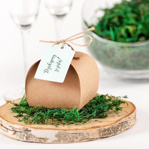 Pudełeczka dla gości - BohoMaz - zielone (10 sztuk)