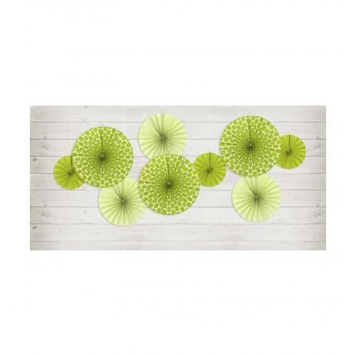 Zielone rozety dekoracyjne (3 sztuki)