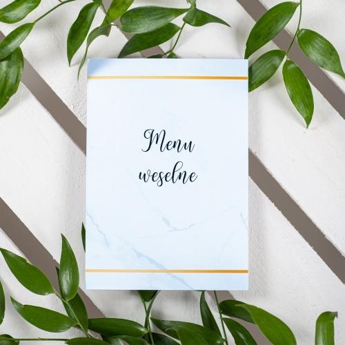 Menu weselne - BohoMaz - błękitne