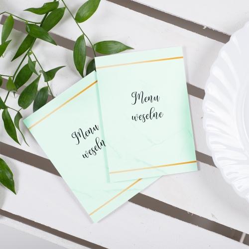 Menu weselne - BohoMaz - zielone