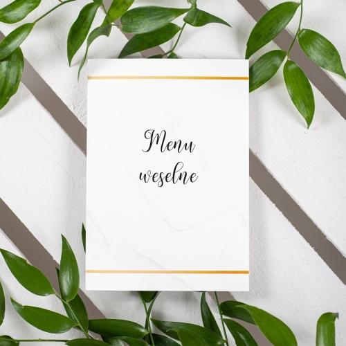 Menu weselne - BohoMaz - białe