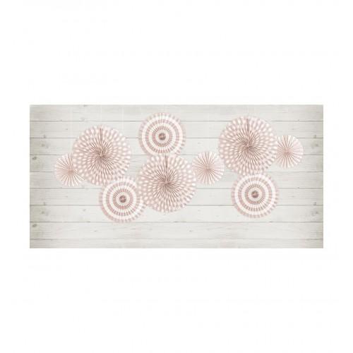 Brzoskwiniowe rozety dekoracyjne (3 sztuki)