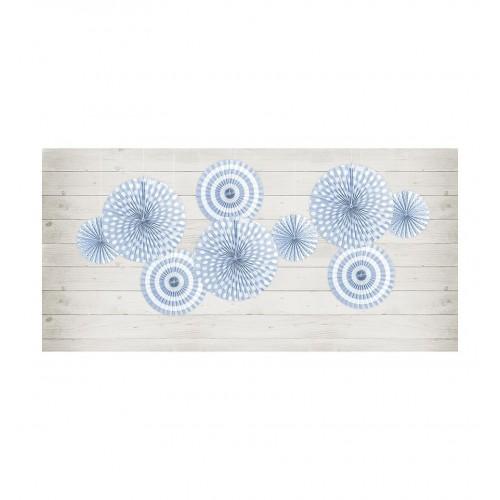 Jasnochabrowe rozety dekoracyjne (3 sztuki)
