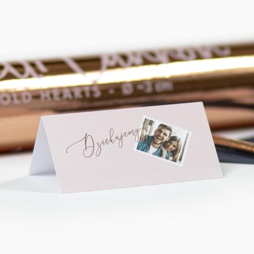 Winietki ślubne - Our Postcard - składane