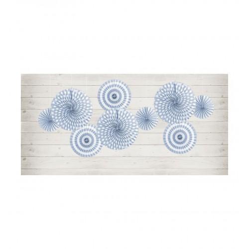Błękitne rozety dekoracyjne z serii Pastelove