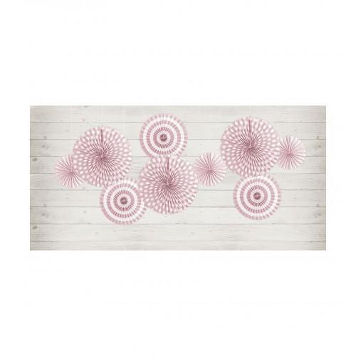 Jasnoróżowe rozety dekoracyjne z serii Pastelove