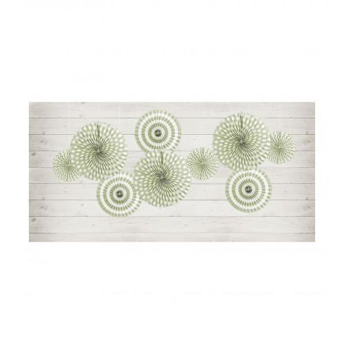 Oliwkowe rozety dekoracyjne z serii Pastelove