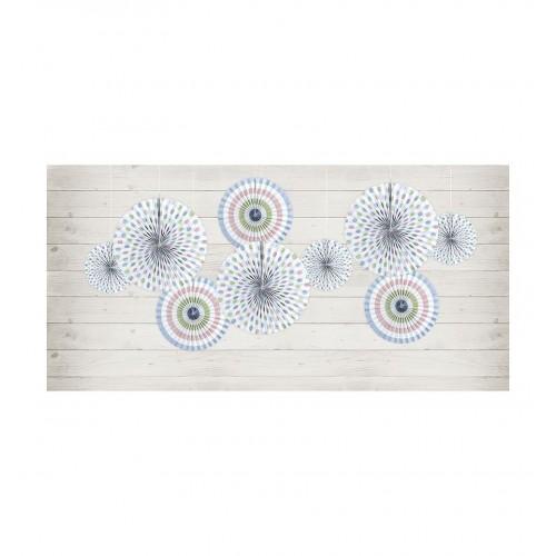Kolorowe rozety dekoracyjne z serii Pastelove