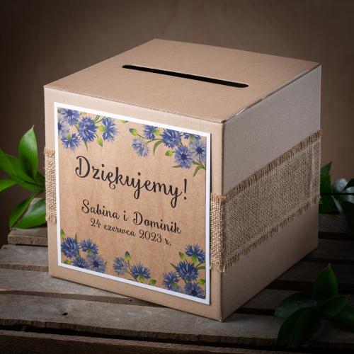 Pudełko na koperty - Rustic Blue