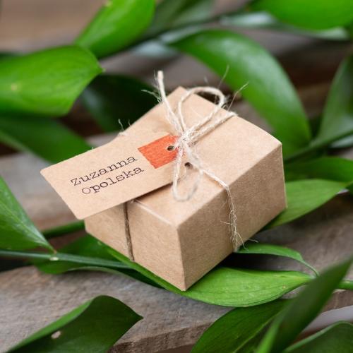 Kwadratowe pudełeczka dla gości - Akta Sprawy (10 sztuk)