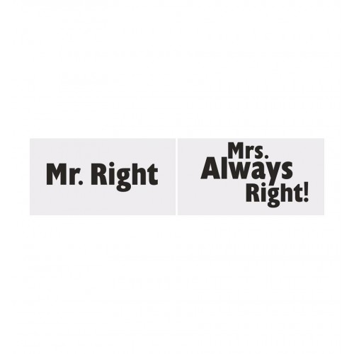 "Tabliczki ""Mr. Right"" i ""Mrs. Always Right!"""