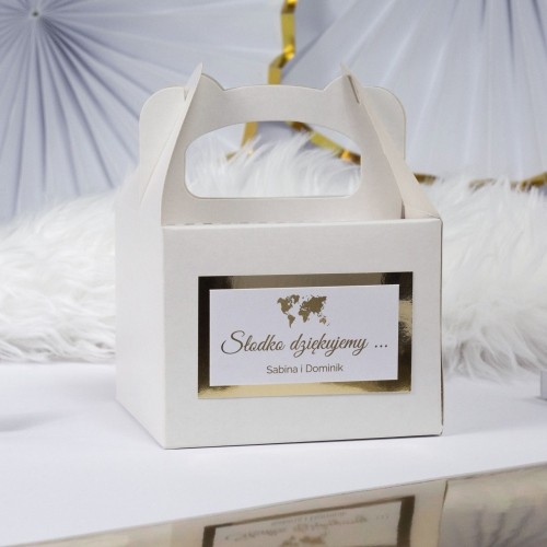 Małe pudełko na ciasto - Travel