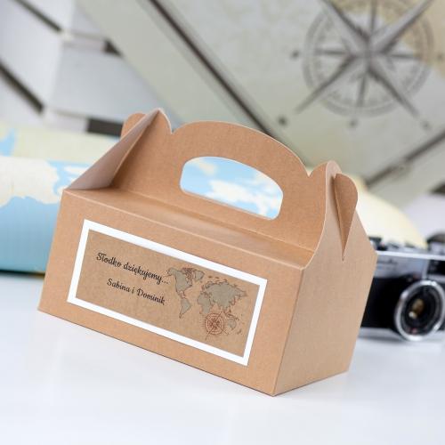 Duże pudełko na ciasto z papieru czerpanego - Our Journey EKO