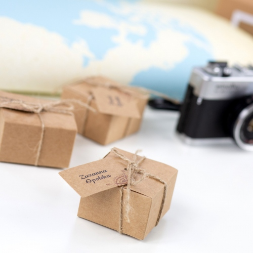 Kwadratowe pudełeczka dla gości - Our Journey EKO (10 sztuk)