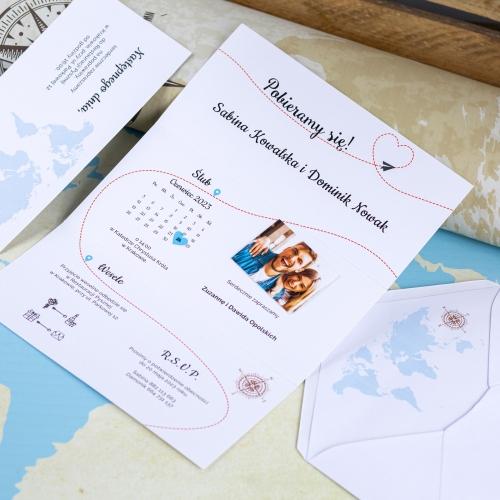 Zaproszenie ślubne - Our Journey