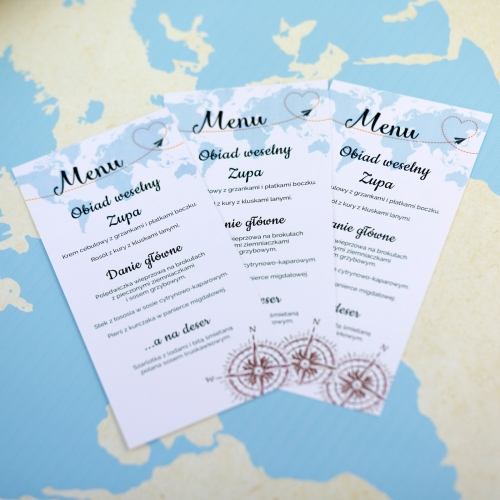 Menu weselne - Our Journey