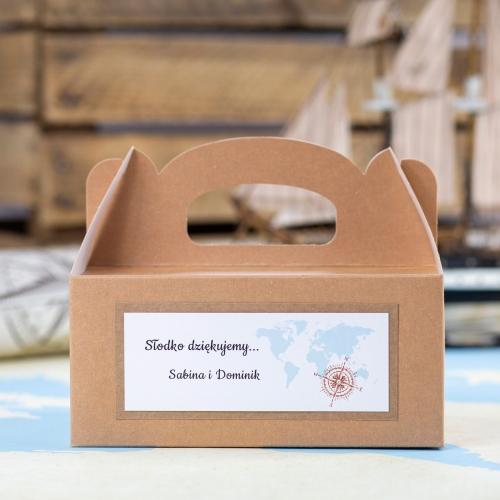 Duże pudełko na ciasto z papieru czerpanego - Our Journey