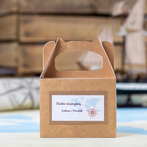Małe pudełko na ciasto z papieru czerpanego - Our Journey EKO