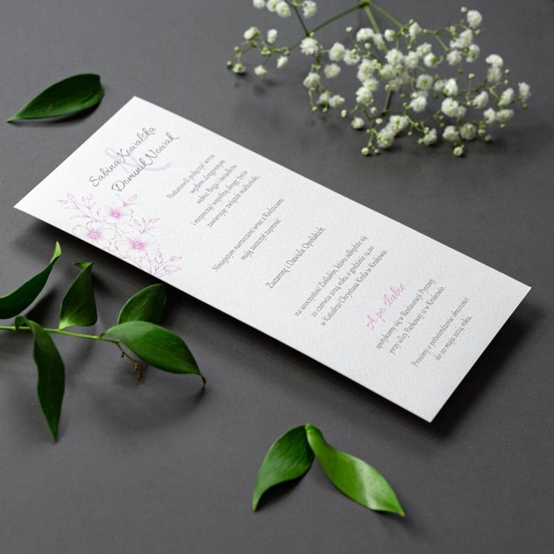 Zaproszenie ślubne - Gesso Flower
