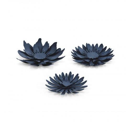 Papierowe kwiaty - granatowe