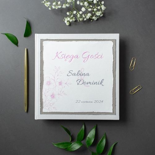Księga gości - biała - Gesso Flower