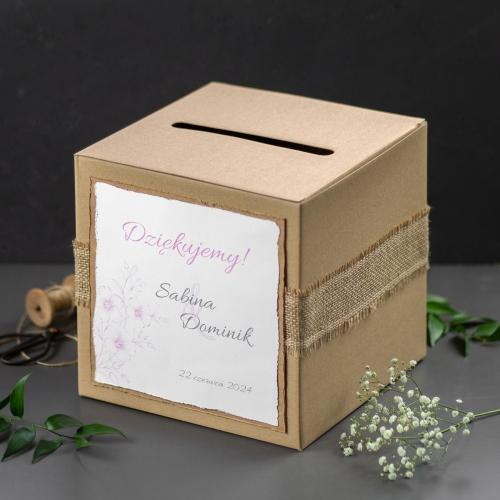 Pudełko na koperty - EKO - Gesso Flower