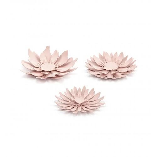 Papierowe kwiaty - pudrowy róż
