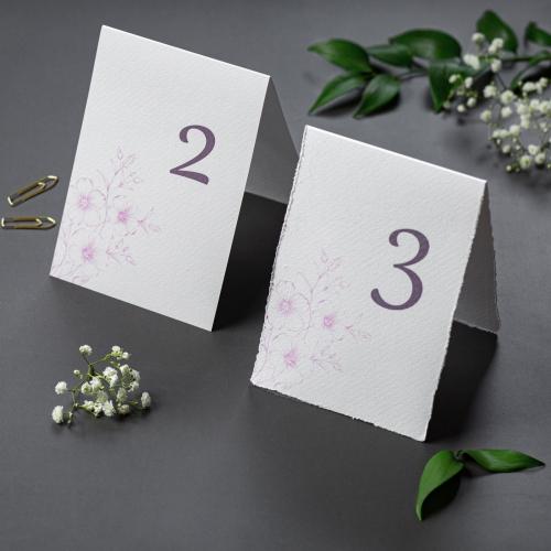Numer stolika - Gesso Flower