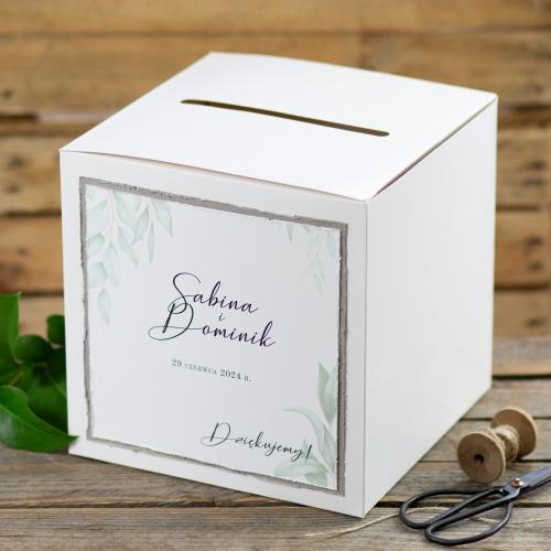 Pudełko na koperty - białe - Gesso Ruskus